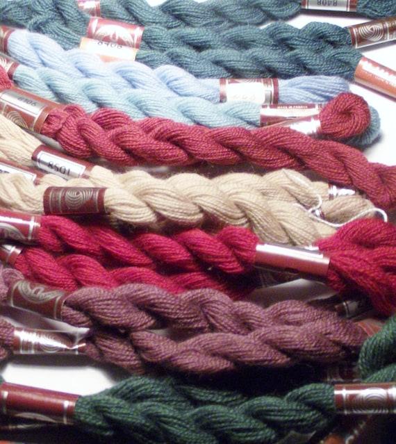 DMC Woolmark Embroidery Thread, 100% Virgin  Wool Green Red Purple Craft Supplies Sewing Pure Lain Vierge  Reine Schurwolle