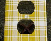 Decorative Oversized Mustard Plaid Switch Plate - Single Duplex