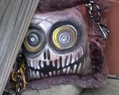 Frayed Skull Pillow - X