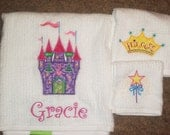 Adorable Set of 3 Princess Towels