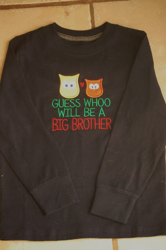 Owl Big Brother Announcement Shirt