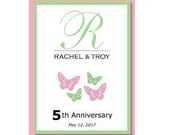 Add On:  Extra Laminated Anniversary Labels for EVCreations Wine Bottle Guest Book Kit