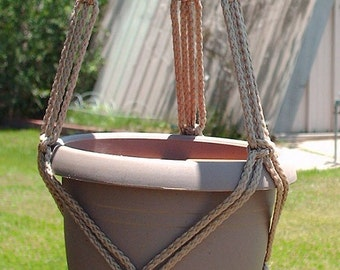Macrame Plant Hanger 20 in FRIENDSHIP - Sand