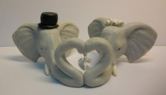 Elephant Wedding Cake Topper Elephant Wedding Cake Topper