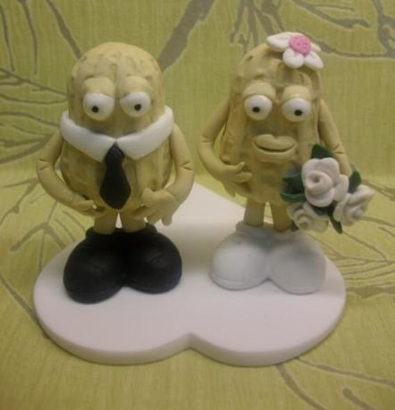 SALE  Wedding cake topper couple nuts about each other