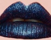 DEEP Mineral Lipstick - Darkest Blue Colored Lipstick - All Natural