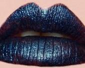 DEEP Dark Blue Lipstick - Halloween - All Natural