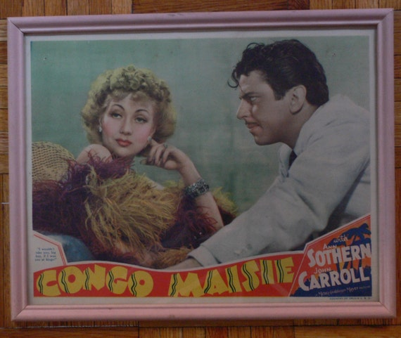 Vintage Rare Movie Lobby Card CONGO MAISIE with Ann Sothern Glamour & Sass 30s 40s