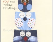 Baby Boy room art, Nursery wall art Decor, baby boy room art, owls...First we had each other, then we had you, now we have everything...