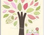 Owl Nursery Art Print - N...
