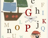 Pirate Nursery Wall Art D...