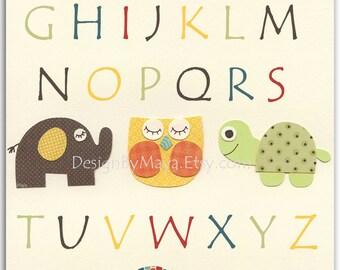 Play Room Art - Baby Room Play Decor - Baby Room Decor - Play Room ABC - Baby Room Alphabet - Baby Wall Art - Play Room Print