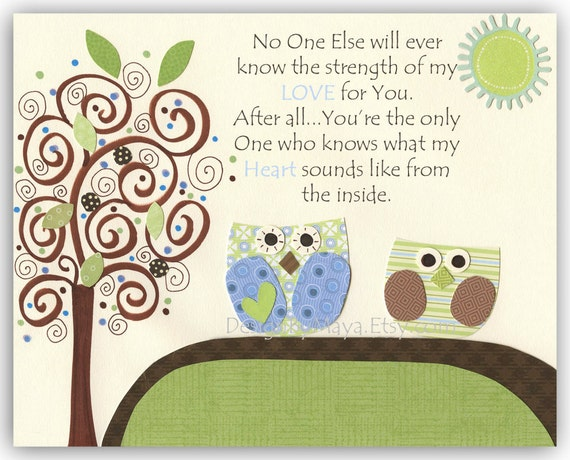 Owl Nursery Wall Art For Baby Boy Nursery Baby Boy Nursery Wall Art