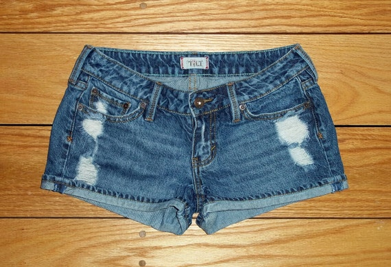 Tilt Jeans Denim Shorts Low Rise Distressed -  US Size 3/4/5 Priority Shipping