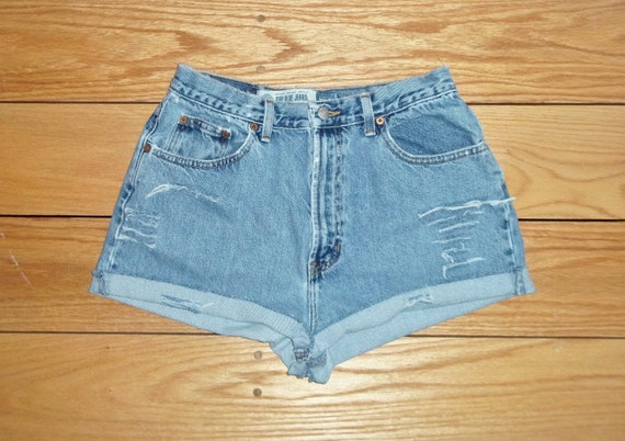 3 DAY SALE - Denim Shorts High Waist Distressed Cut Offs - US Size 5/6/7   Priority Shipping