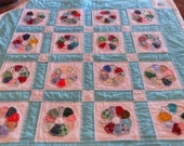 Charming Hand Made Dresden Plate Baby Quilt/Wall Hanging on Etsy