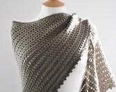 The Agena Triangular Shawl in Grey
