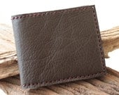 Classic Leather Men's Wallet in Dark Brown