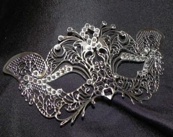Petite Silver or Gold Metallic Masquerade Mask