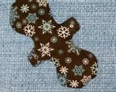 "12"" Heavy Flow Snowflake Flannel PUL Menstrual Pad"