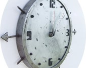 18 inch handmade wall clock. Made from sheet metal and steel.