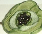 go green flower bobby pin