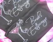 Photo Prop Bride Bridesmaid Bride's Entourage Wedding Crystal Rhinestone Martini Shoe Tank Top Shirt   Bridal Party Gift Ideas