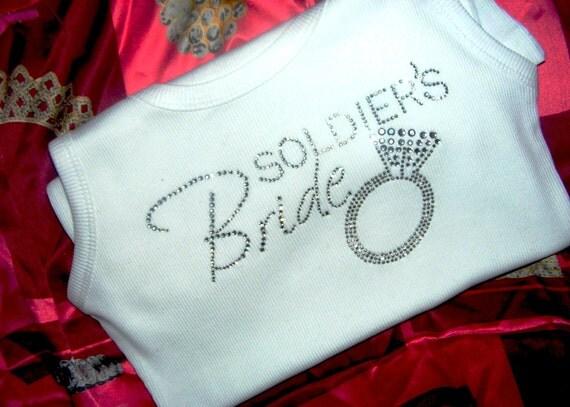 Soldier's Bride Tank Top Shirt Wife Marine's Bride Tank Top Shirt Army Navy Bride Military Bride Wedding Shirt