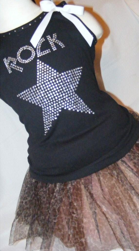Rock Star Girls Toddler Embroidered Bling Crystal Rhinestone