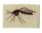Mosquito Patch screen printed on canvas punk inspired