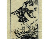 Tarot Card Patch The Fool  Screen Printed Clothing Patch