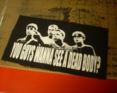 Movie Art Hoodie Patch - You Guys Wanna See A Dead Body Stand By Me bag patch or back patch