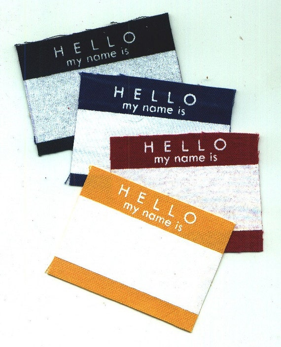 Hello sticker Patches (set of 4)