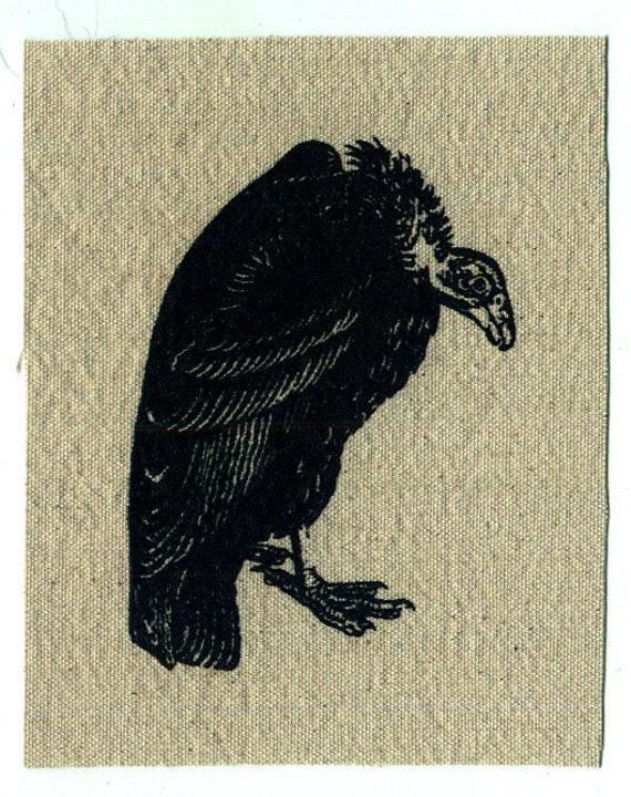 Vulture bird print patch
