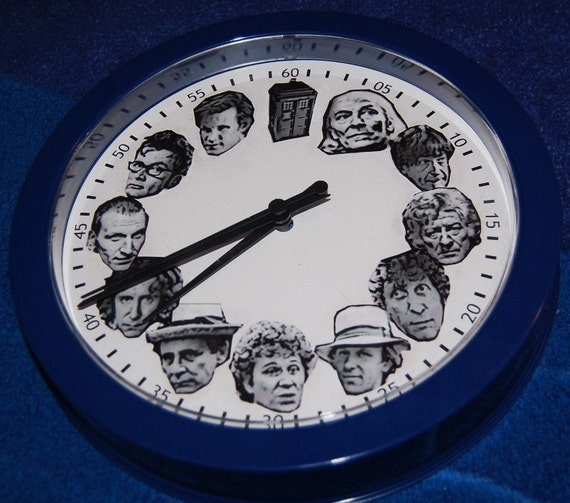 Best Seller: Doctor Who Themed Clock - Doctors and the TARDIS