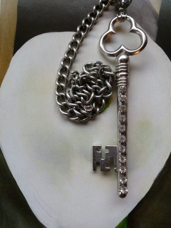 Crystal Rhinestone Key Pull Chain For Light Fixture Or By