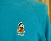 V I N T A G E  Electric Blue Hawaii Mickey Mouse Sweatshirt Adult Large