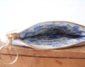 vintage lace zipper pouch
