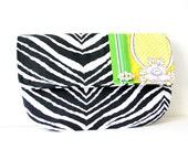 summer clutch in zebra print