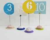 Urchin Table Number Holder, wedding table number holder, number card holder, wedding table setting