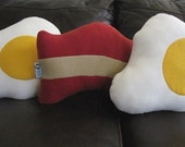 Plush Bacon and Eggs Pillow Set - Geek Chic Home Decor