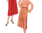 50s Skirt Pattern/ Vintage Simplicity Misses 1950s Pleated Pleated Skirt Sewing Pattern 4886/ Waist 26