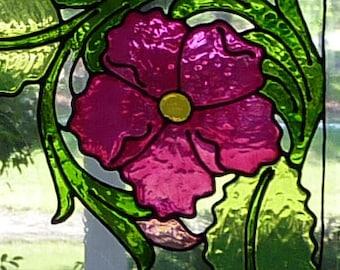 Corner flower window clings