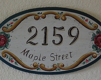 Personalized Name Address Plaques, Long Oval Custom House Plaques