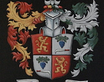 Custom Family Crests & Coat of Arms Paintings 9 x 12 Canvas