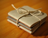 Mini Notebooks, Set of 3, Mix Paper, Charcoal and Light Grey