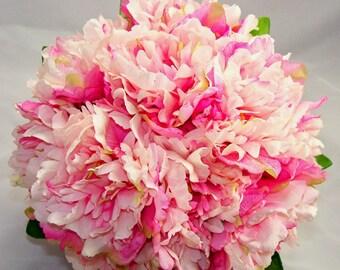 Bridal Bubblegum Pink Peony Bouquet