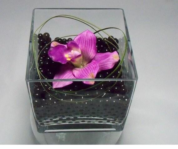 Orchid in a Elegant Square Vase DIY kit