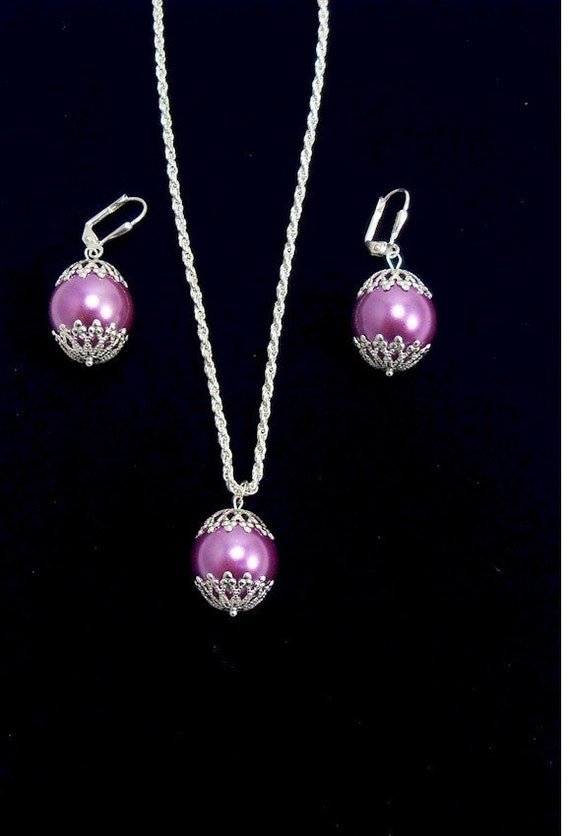 Great for Bridesmaids Necklace and Earring Set