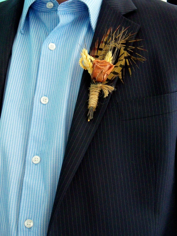 Real preserved rose boutonniere